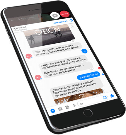 phone screen chatbot and human messaging over a returned item