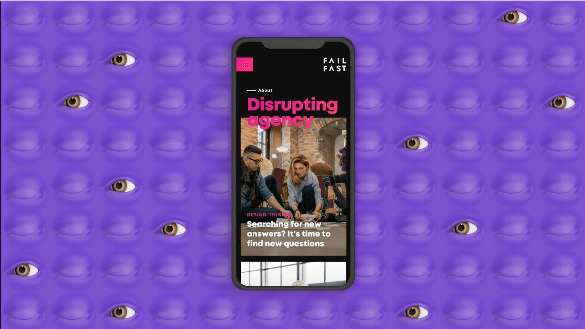 Fail fast design agency SF on a phone screen