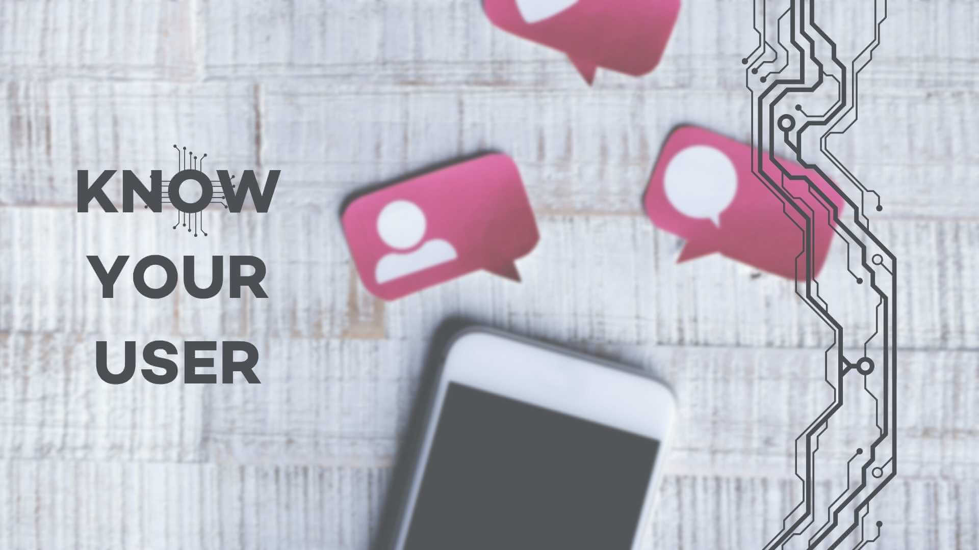 know your user text next to a smart phone