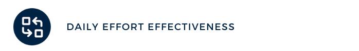 daily effort effectiveness