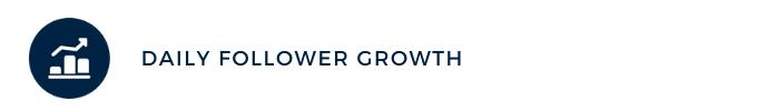 daily follower growth